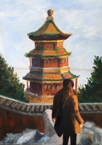 Bea Snyder, Kylie in China, Oil on linen 20 x 24